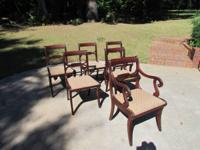 Set of 6 solid mahogany dining chairs. This set