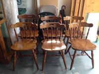"Set of 6 ""very first mate"" design chairs. These are"