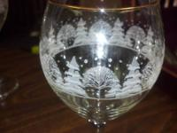 Set of 8 Christmas Glasses.  These are very beautiful