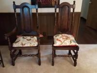 Set of 8 gorgeous dining chairs for sale. Hardwood and