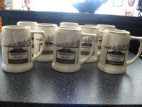 Personalized beer mugs with the words ?Marshall?s