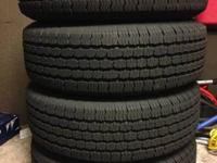 Set of (4) P225/75R15 Michelin LTX M/S tires with great