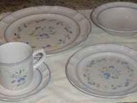 Very pretty set of dishes. 6 plates, 6 cups, 8 saucers