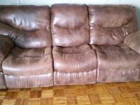 Selling a dual recline sofa and a dual recline