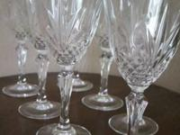 Set of 8 crystal goblets for water and even fancier