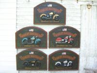 Set Of Five Hard To Find 3D Harley-Davidson Collectible