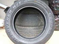Set of four 275/60/20 tires. Cooper Discoverer H/T.