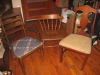 Nice chairs, certain the left one is an antique. (Also