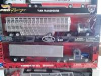 HERES A NICE SET OF DIECAST SEMI /TRACTOR /TRAILERS.THE
