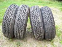 These tires have less than 1000 miles of use on them,