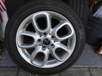 "Four 16""  tires/rims from Mini Cooper S 2015;"