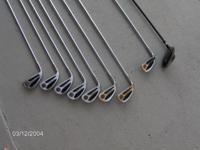 Set of Golf Clubs (Left Handed) Bag Boy Hand Cart.