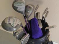 Set of Jazz golf clubs putter and golf bag hardly used