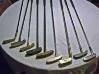 This set of nine putters includes the following:
