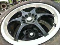 selling a set of 4 rims, they need new tires. the price