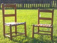 Set of Two Vintage Kids Chairs Two brown kids chairs