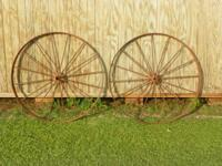 A Great Set of Very Old 48 inch (4 ft) Wheels in