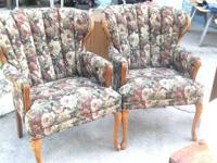 Comfy set of wingback chairs.  $100.00 for the set.