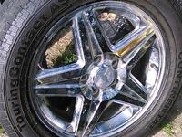 Like new custom 17 in set of Chevy tires made for a