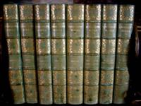 Set of eight lovely antique leather bound books of