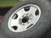 I have a set of 4, steel rims & tires, 8 lug 18 inch.