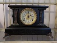 Late 1800's Seth Thomas Adamantine mantle clock in