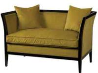 This is a nice empress style settee - black wood finish