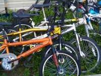 "I have a few 20"" bmx bikes I'd like $25 a piece of $40"