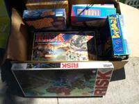 Take the whole box of board games for $10.00 Call Dave