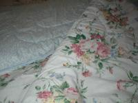 King Comforter, also includes, king shams, bed skirt,