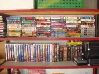 For sale or trade are several hundred vhs movies