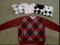 Tommy Hilfiger argyle sweaters in excellent condition.