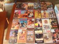 Two boxes of western vhs movies unfiorgiven city