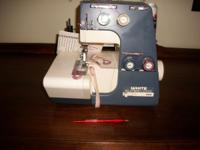 I HAVE A GOOD WORKING WHITE WUPER LOCK SEWING MACHINE