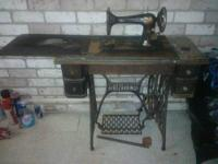 "**** Antique Sewing Machine 1950's ELNA ""Supermatic""."