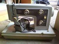 I am selling my sewing machine. Older but still works,