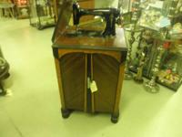 Graybar brand name cabinet sewing device. Good art deco