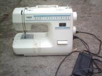 brother sewing machine. work good. good condition. $