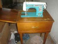 SEWING MACHINE NEEDS MOTOR, AND WORKED ON, JUST SELLING