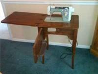 1970 Newhome Designer Sewing Machine in a hide away