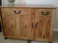 This is a nice and spacy cabinet for a sewing machine,