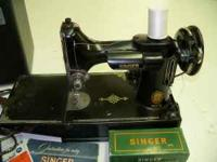 This 1950's Vintage Singer model 221 is a perfect