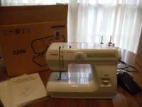 Sewing machine, new in box, Model 2206, 6 built-in