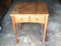 Used sewing machine table for sale! Appearance is 60%,