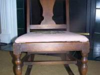 sewing rocking chair with needle point seat $40.00. The