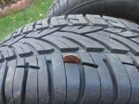 SET OF 4 BRAND NEW TIRES ON RIMS SIZE= 185/65/15 IF