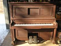 Offered for sale is a Seybold player piano that plays