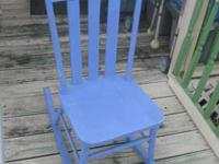Shabby Blue Rocking Chair What can I say, it's just