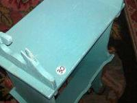Shabby Chic Aqua and Antique Magazine Table. $25 (top