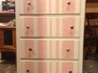 this chest of drawers could not be CUTER!!! solid wood.